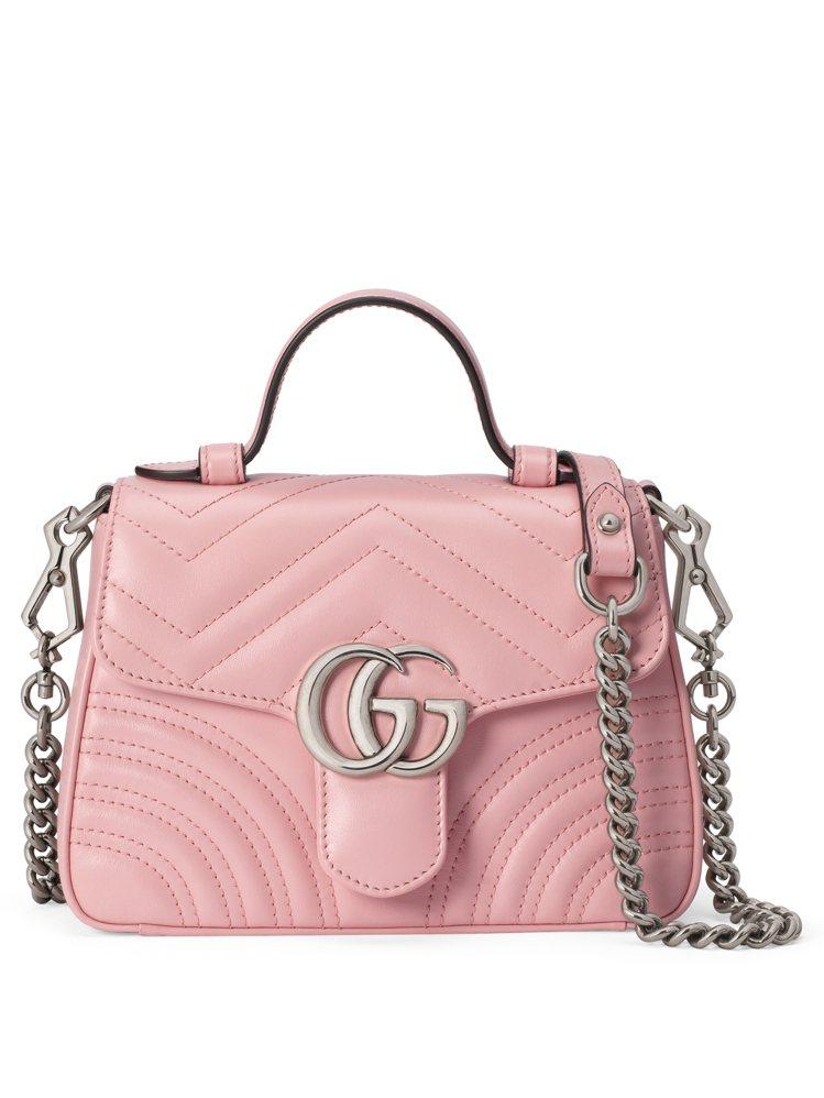 GG Marmont玫瑰花瓣手提包,60,300元。圖/GUCCI提供