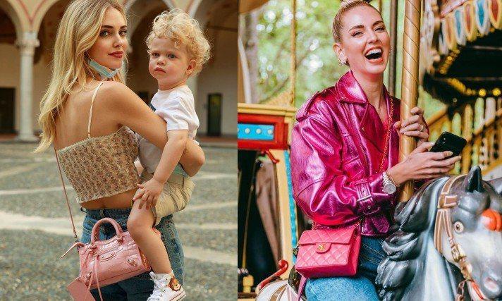 Chiara Ferragni最近一連秀出兩款粉紅色調包款。圖/摘自IG