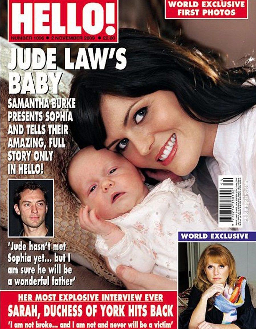 珊曼莎柏克生下裘德洛的女兒曾登上封面,那時裘德還沒見過這個女兒。圖/摘自HELL...