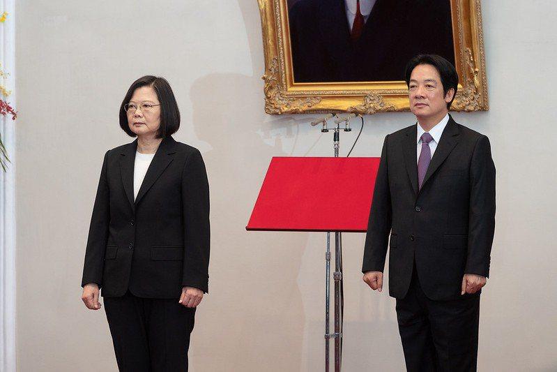 蔡英文與賴清德5月20日就任中華民國正副總統。(中華民國總統府提供)