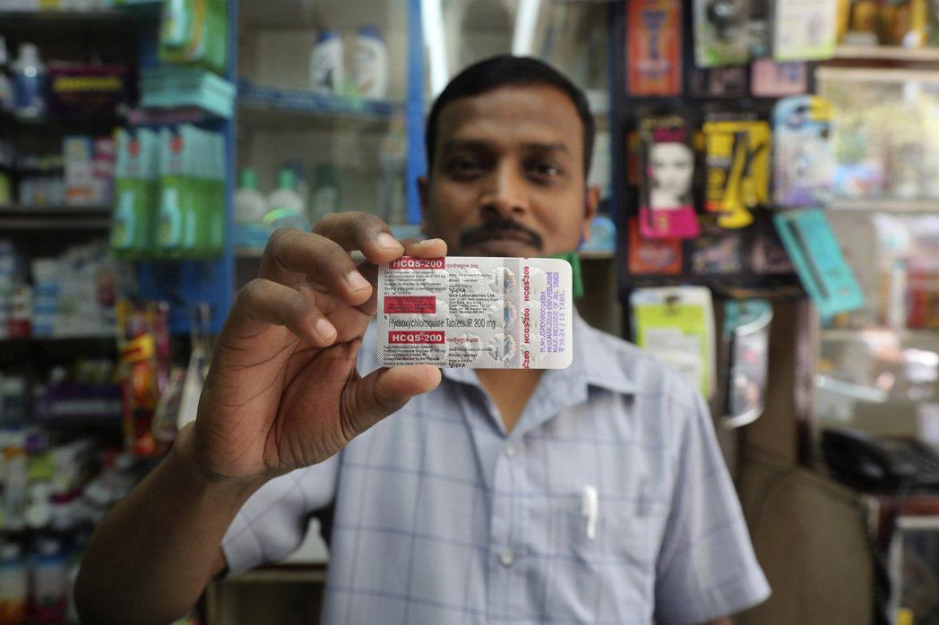 雖然也沒有實證數據,但羥氯奎寧藥在印度流行。(美聯社)