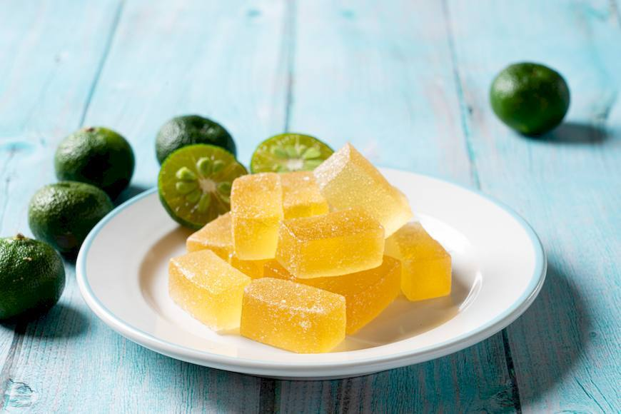 香檬軟糖無添加香精、防腐劑及人工色素,是讓人安心的零食。 圖/摘自綠主張月刊