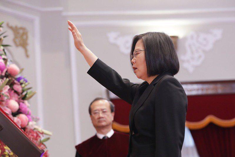 蔡總統第二任的就職演說,堅定拒絕「一國兩制」的主張。 圖/總統府 Flickr