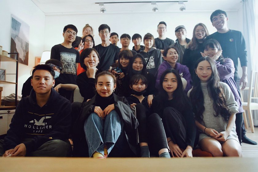 中國科大影視設計系「患得幻失」劇組團隊合影。 校方/提供