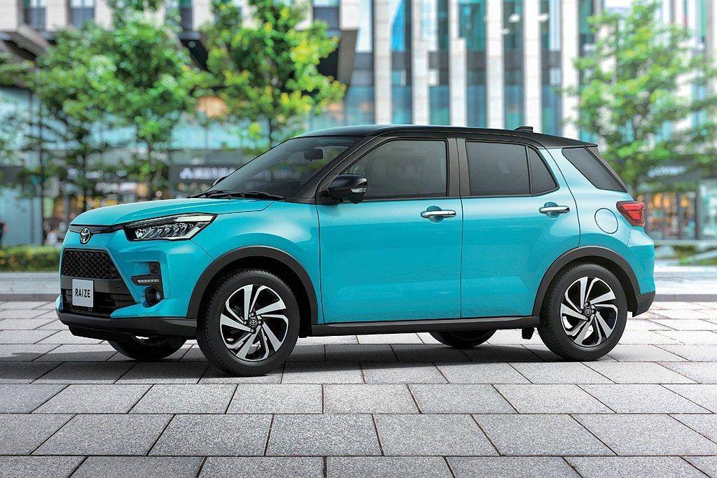 今年1、2月銷售冠軍的Toyota Raize跨界休旅則已經進入銷售穩定期,4月...