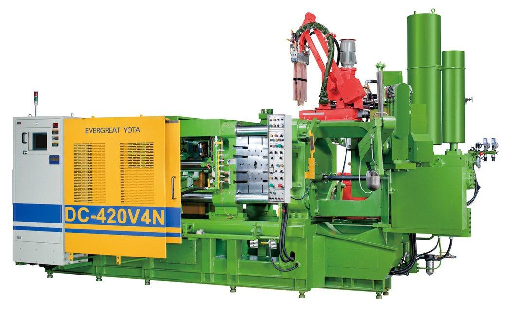 永大機械DC-420V4N壓鑄機。 業者/提供。