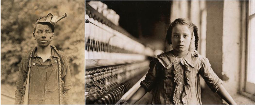 童工在這一兩百年的社會都還非常普遍