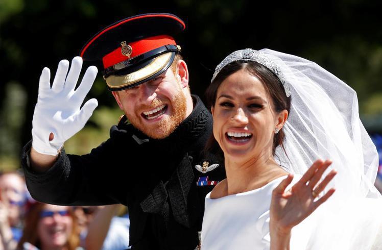 哈利與梅根結婚滿兩周年。圖/路透資料照片