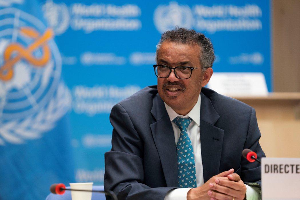 世界衛生組織秘書長譚德塞20日表示,全球19日新增的新冠肺炎確診數創單日新高。路...
