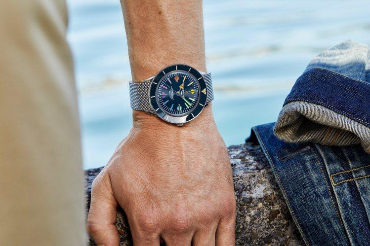 百年靈今年四月推出Superocean '57超級海洋腕表頗受好評,立馬追加藍色...