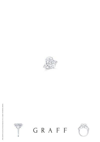 格拉夫13.95克拉橢圓鑽石戒指,價格店洽。圖/格拉夫提供