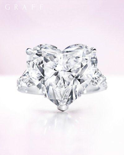 格拉夫10.01克拉心形鑽石戒指,價格店洽。圖/格拉夫提供