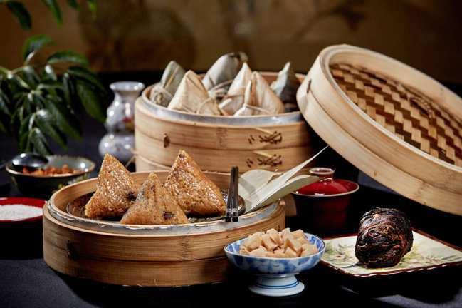 台北國賓飯店去年創下熱銷5萬9千顆肉粽的紀錄。圖/台北國賓提供