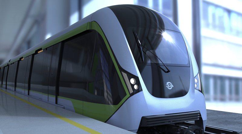 捷運綠線車廂外型設計,通車後示意圖。圖/捷工局提供