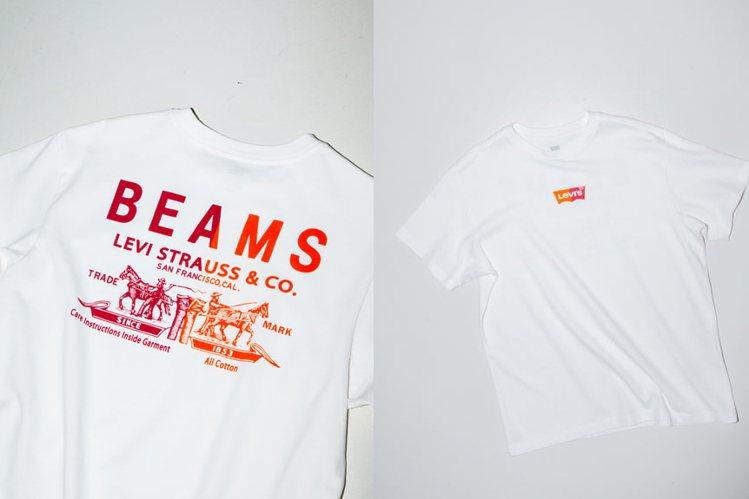 LEVI'S 與Beams合作HALF & HALF系列T恤。圖/摘自Beams...
