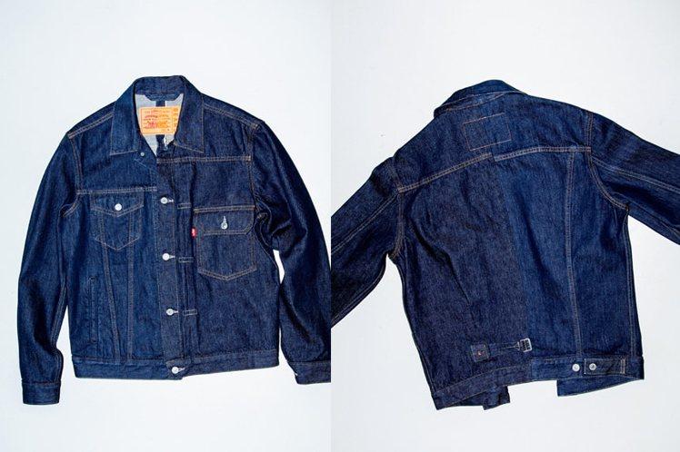 LEVI'S 與Beams合作HALF & HALF系列牛仔夾克。圖/摘自Bea...