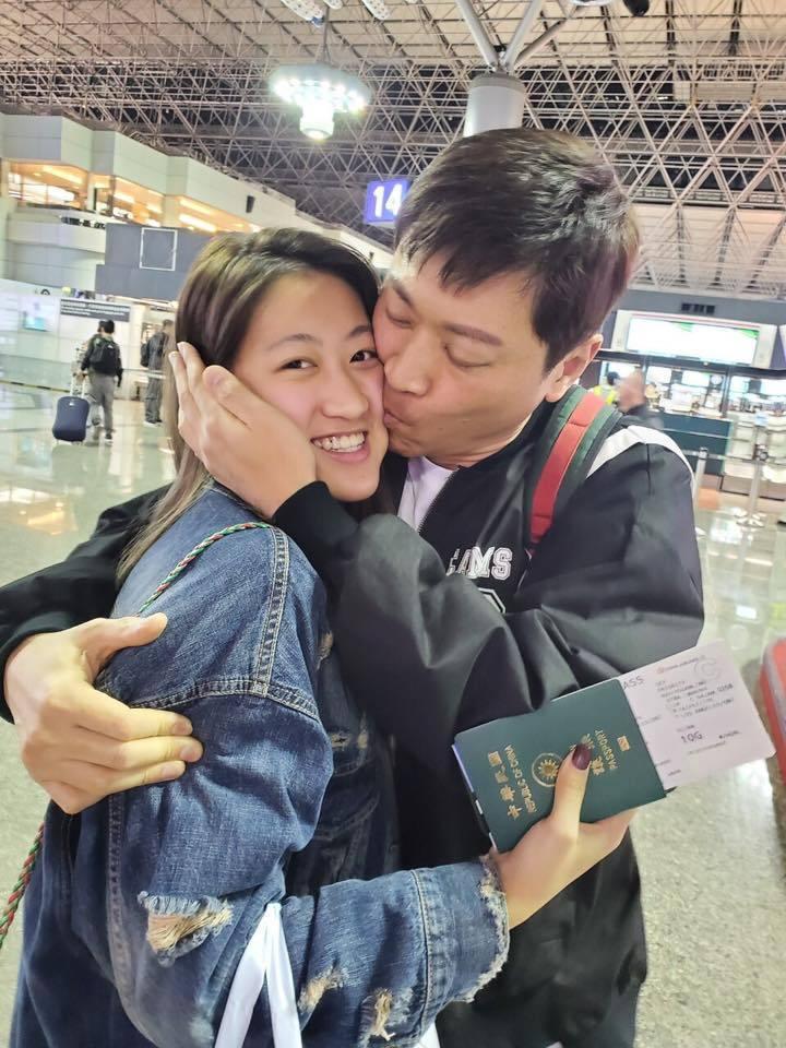 侯昌明愛女目前在美國求學。圖/摘自臉書
