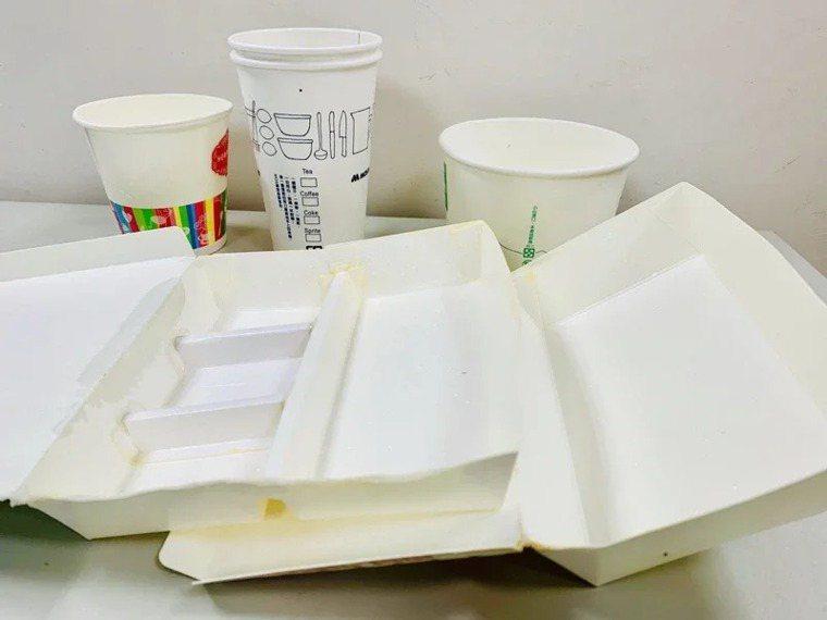 免洗紙類餐具今年一至四月用量較去年增加五成。記者羅紹平/翻攝
