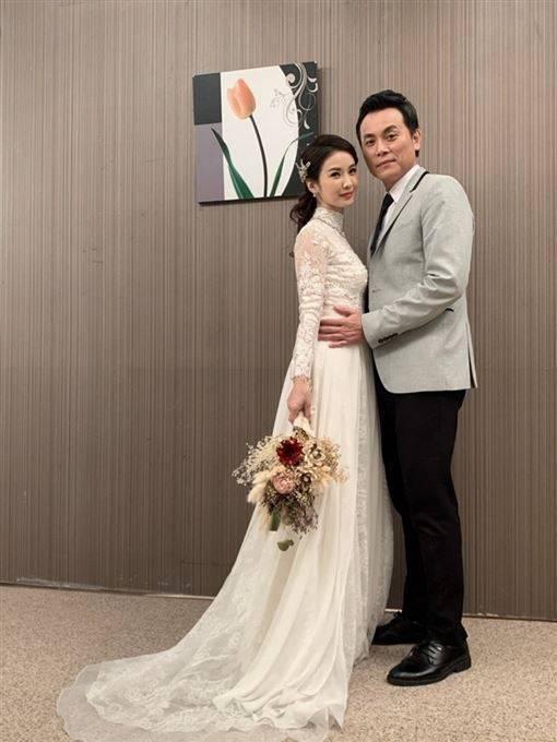 陳小菁在「炮仔聲」中結三次婚。圖/凱瑟琳婚紗提供