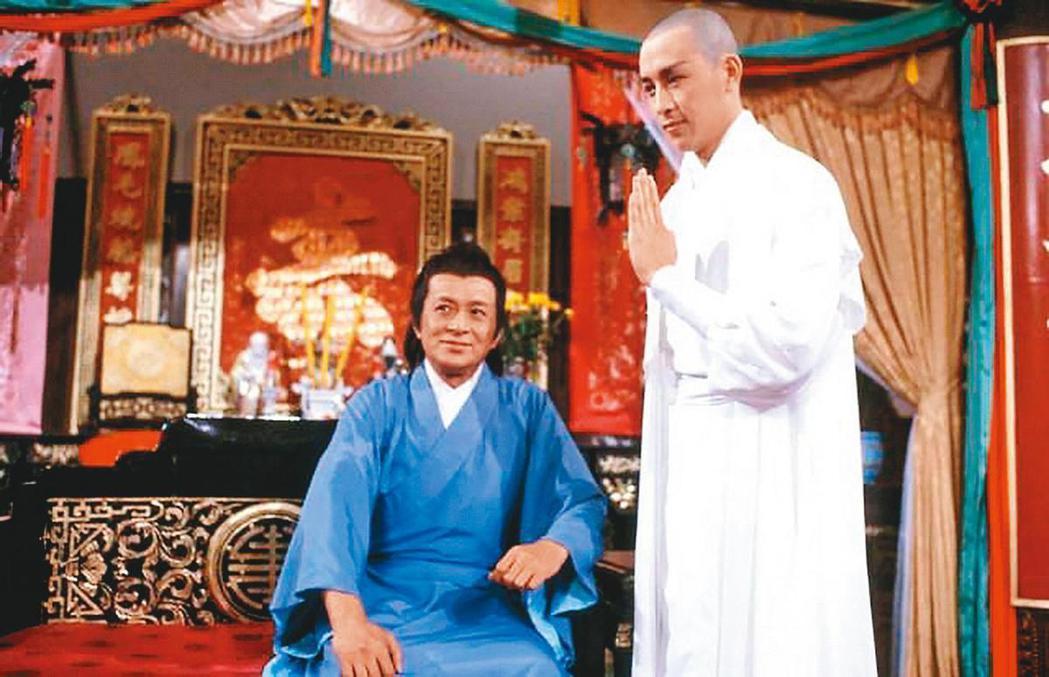 關聰(右)當年和父親關海山合拍「楚留香」,他也因劇中的「無花和尚」一角名揚四海。