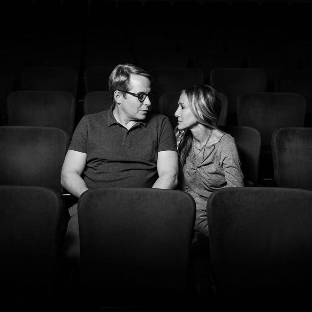 馬修柏德利(左)與莎拉潔西卡派克早先還一起為合演百老匯舞台劇排練。圖/摘自Ins