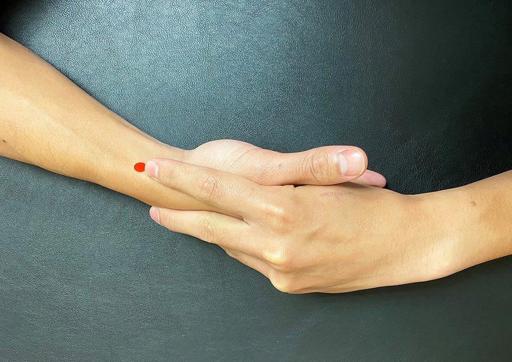列缺穴,腕橫紋上1.5寸。圖/嘉義長庚提供