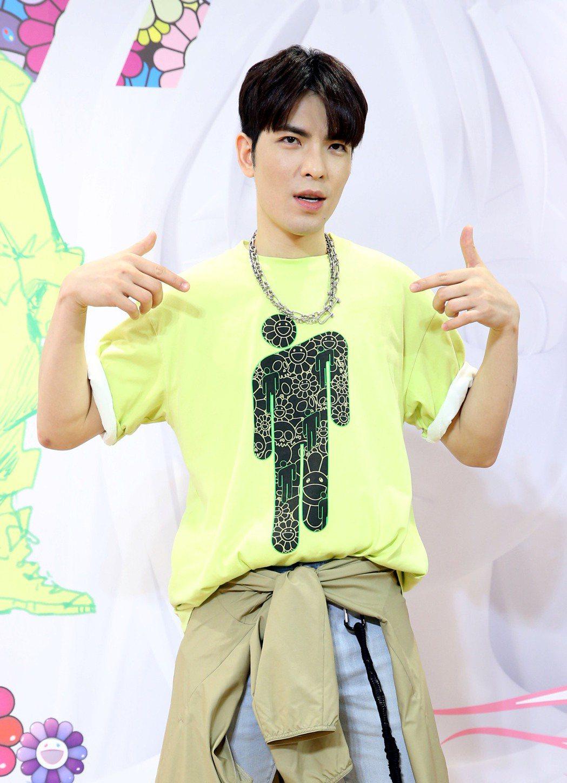 蕭敬騰活力出席日系服飾的「好好生活節」新品發表會活動。記者林俊良/攝影