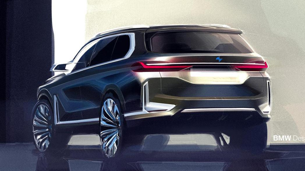 圖為BMW Concept X7 iPerformance設計圖。 摘自BMW