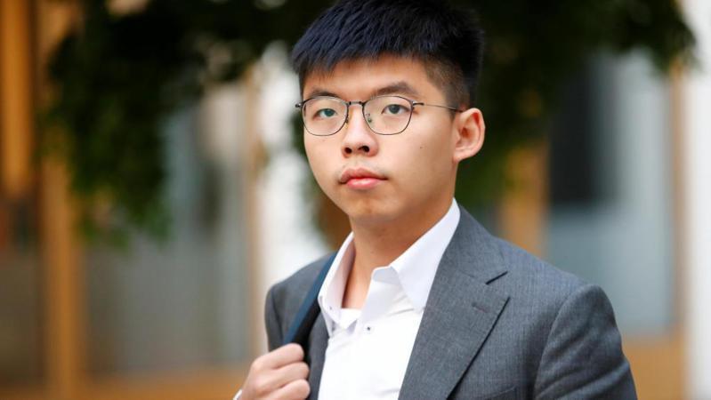 香港眾志秘書長黃之鋒。路透
