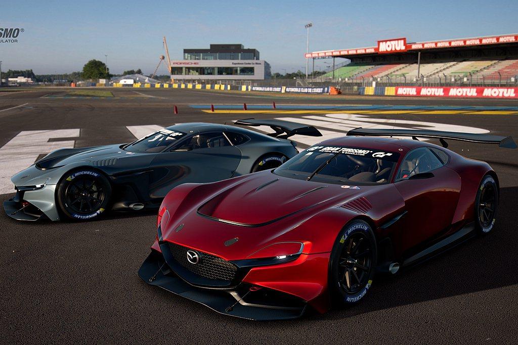 Mazda RX-VISION GT3概念跑車於線上發表。 圖/Mazda提供