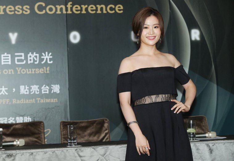 第58屆亞太影展星光紅毯主持人楊小黎。 圖/徐兆玄 攝影