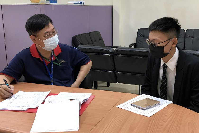 中科院資管中心進行實習面試。 校方/提供