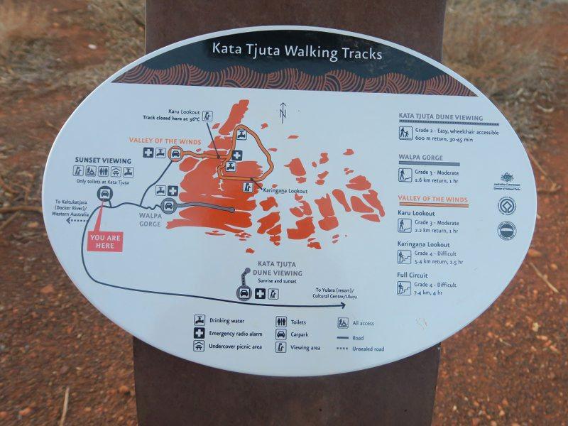 卡塔曲塔(Kata Tjuta) &Valley of Winds的健行路線