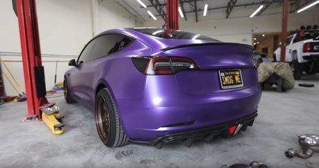影/Tesla Model 3也能裝排氣管?聲浪還很熱血呢!