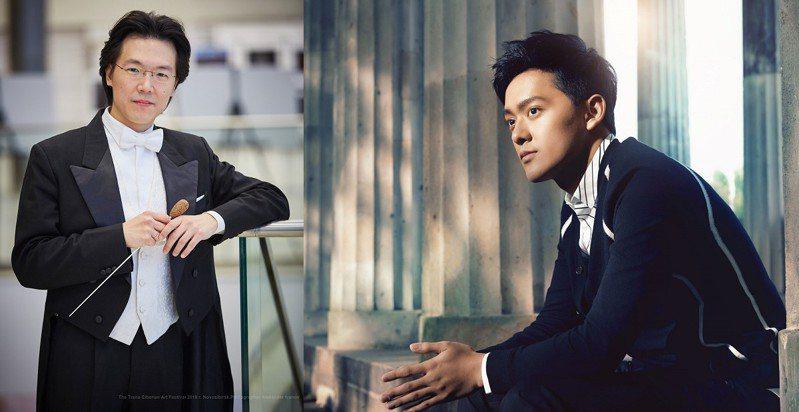 ▲圖:指揮家廖國敏(左)與小提琴家曾宇謙(右)將於6月5日與臺北市立交響樂團一同重返音樂廳舞台