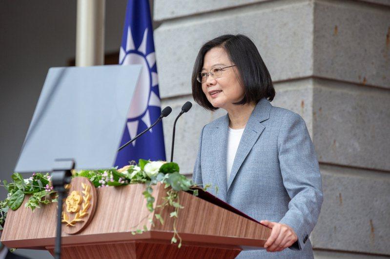 蔡英文總統520在台北賓館發表就職演說。圖/總統府提供