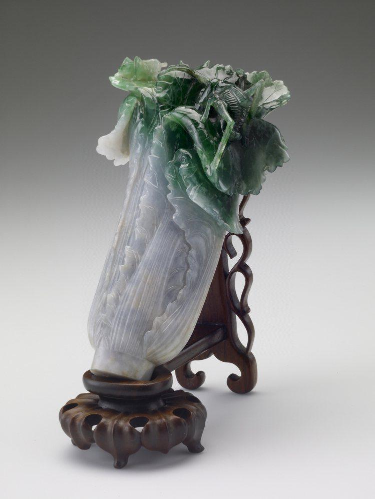 國立故宮博物院藏「清 翠玉白菜」。圖/國立故宮博物院提供
