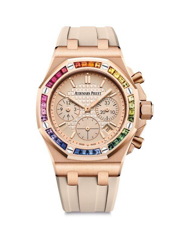 皇家橡樹系列計時碼表,玫瑰金,自動上鍊機芯,37毫米,計時碼表功能,228萬4,...