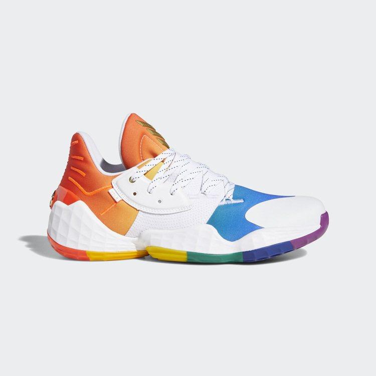 adidas Harden Vol. 4 Pride球鞋4,690元。圖/adi...