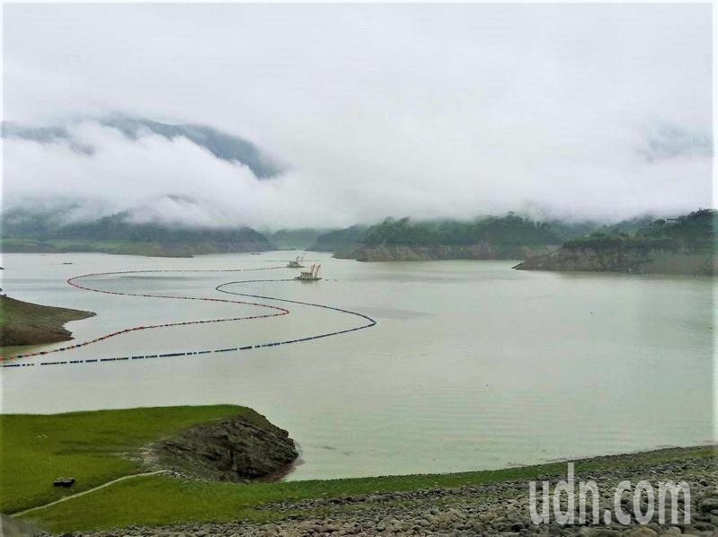 台南曾文水庫預計這波梅雨鋒面進水量預估已有4千8百萬立方公尺,並持續進水中。圖/南水局提供