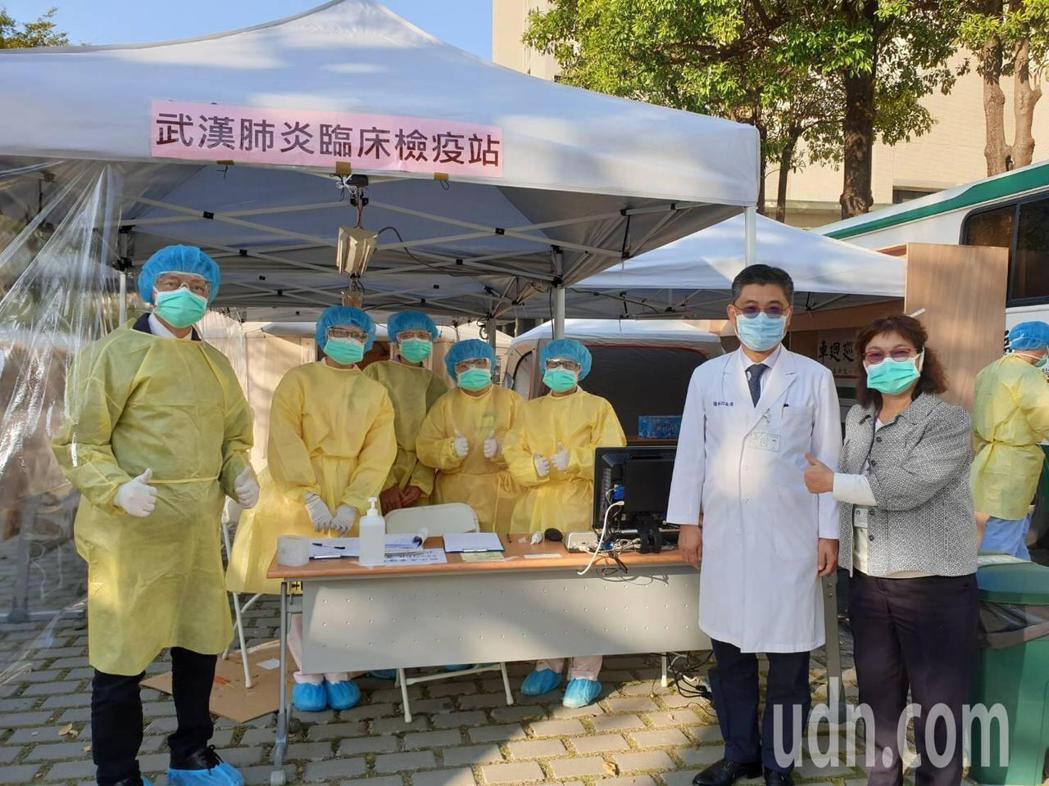 成大醫院新冠肺炎臨床檢疫站今天「打烊」了。圖/成大醫院提供