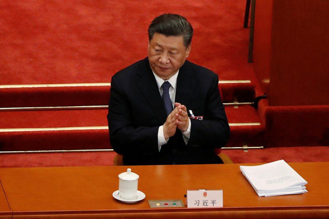 中國大陸國家主席習近平(圖)上午出席全國人大會議,今年人大會議將審議港版國安法,...