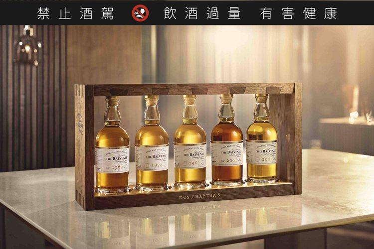 百富首席調酒師典藏系列第五章「調酒大師的特權」在台上市,全球限量50組,整組售價...