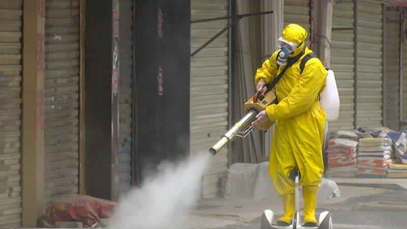 世衛表示噴灑消毒劑可能沒用。圖/世界日報提供