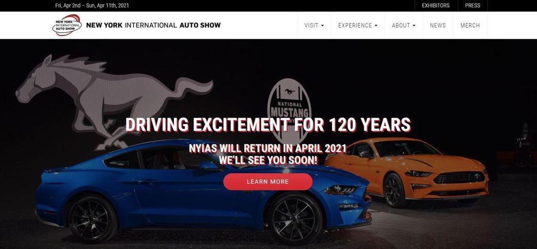 擁有120多年歷史的紐約車展,今年度確定取消,官網也換上了明年的舉辦時間。 圖/...
