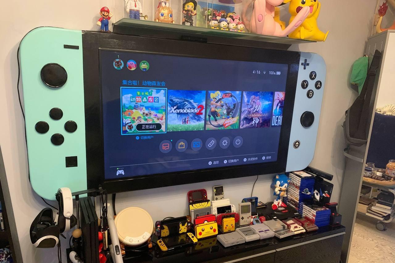 玩家自製巨型「動物森友會Switch」 JoyCon設計極細緻