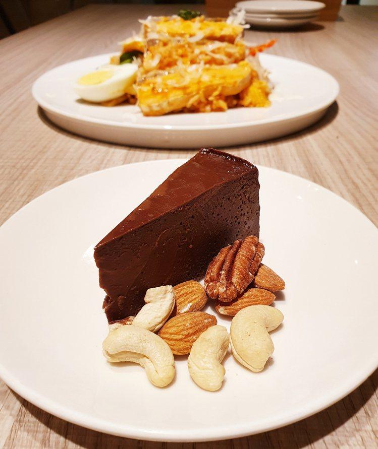 減醣午茶的首選推薦「巧克力蛋糕」。圖/Too Simple減醣廚房提供