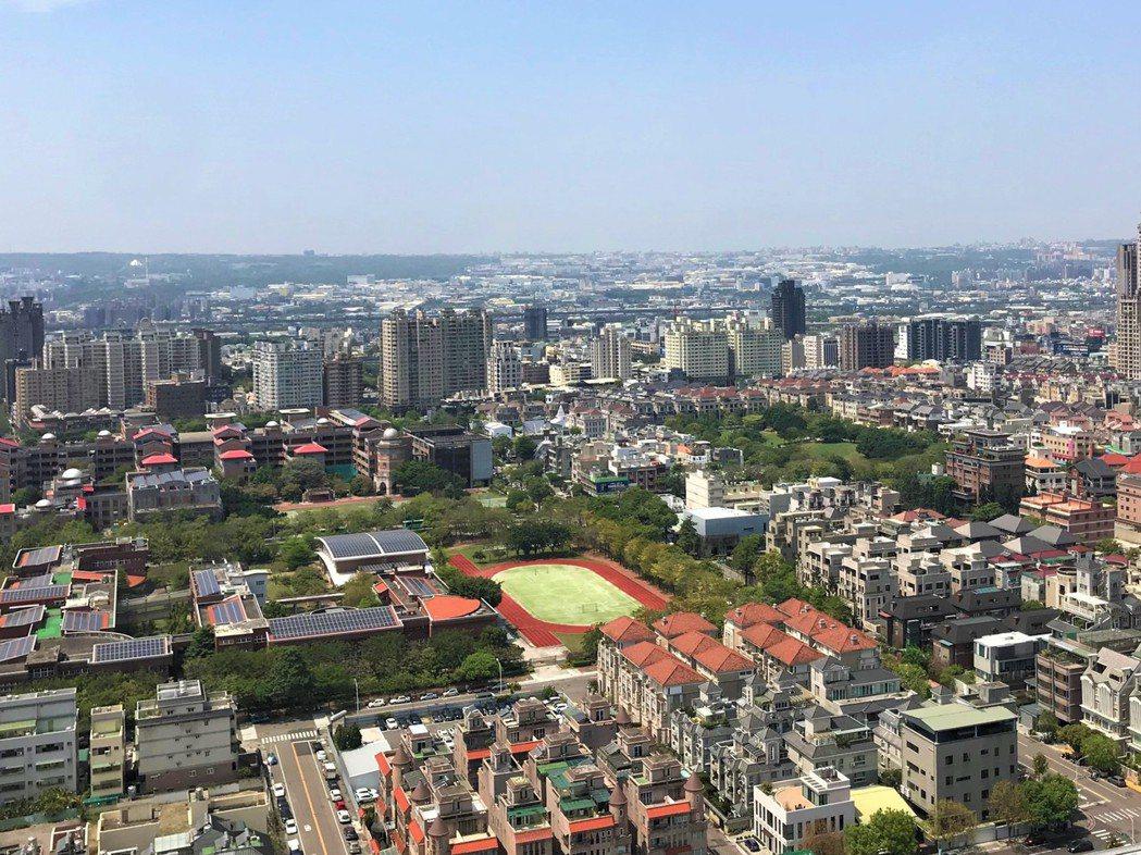 台中七期惠文高中周邊豪宅不少,近年房價上漲一成。 圖/業者提供