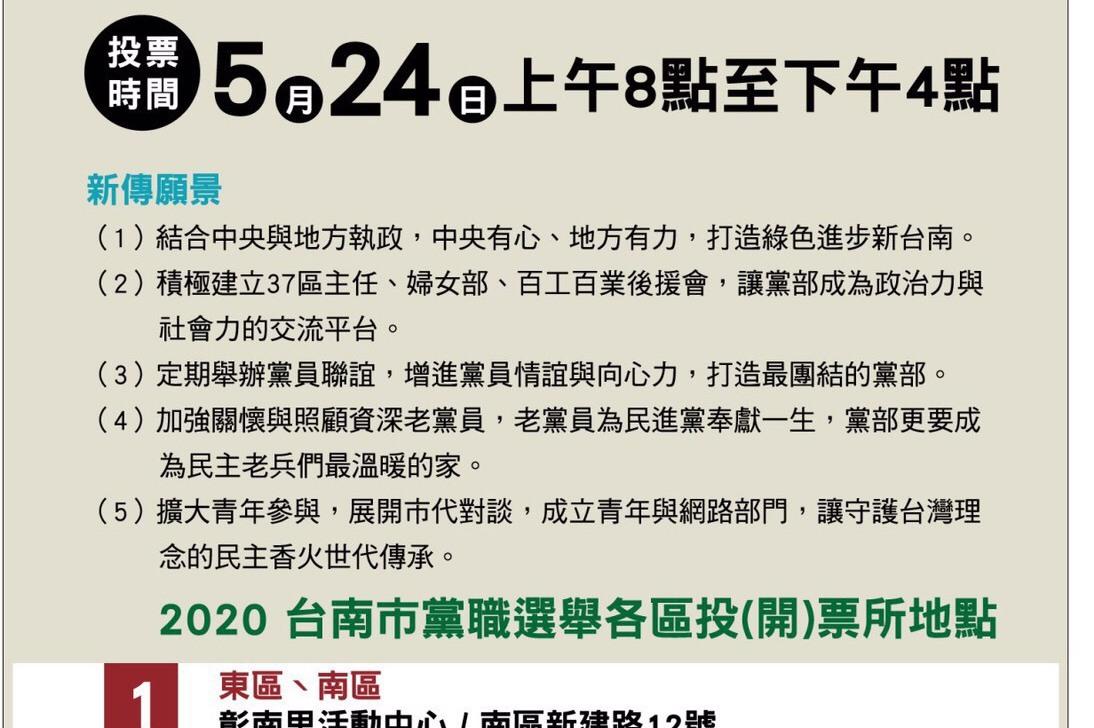 民進黨台南主委選戰仙拚仙 正國會對上市長派