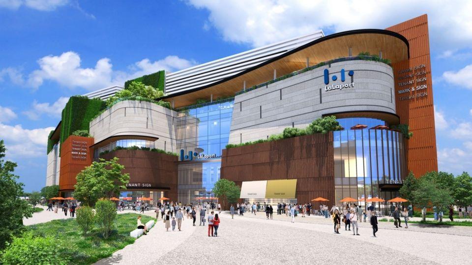 台中三井東區LALAPORT購物商場等開發案模擬圖。圖/台中市經發局提供